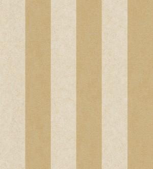 Papel pintado rayas simétricas marrón tostado y marfil oscuro Raya Sacchetti 455825