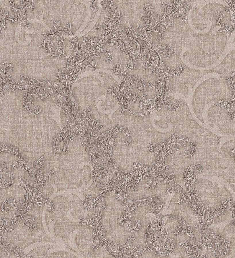 Papel pintado volutas de acanto italianas beige pálido Giorno 455837