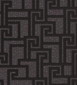 Papel pintado mosaico romano geométrico negro Alessandria 455858