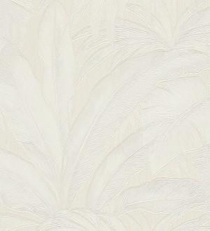 Papel pintado palmeras tropicales blanco Vanila 455869