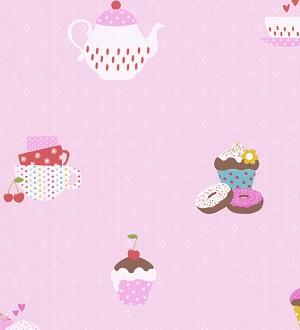 Papel pintado cafeteras y cupcakes infantiles y coquetos Tea Time 455950