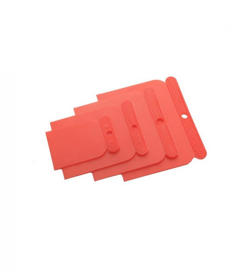 Kit 4 espátulas plástico flexible Kit Daker Plast 542