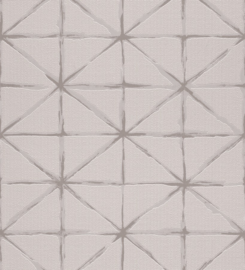 Papel pintado rombos modernos con trazos desiguales Brenta 5431