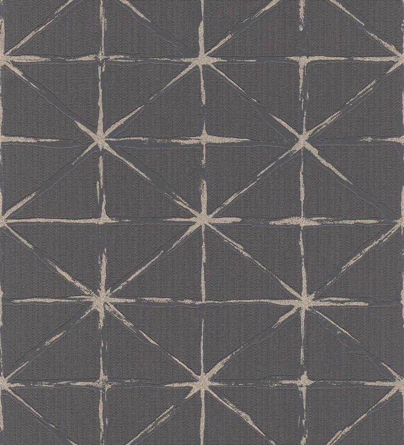 Papel pintado rombos modernos con trazos desiguales Brenta 5432