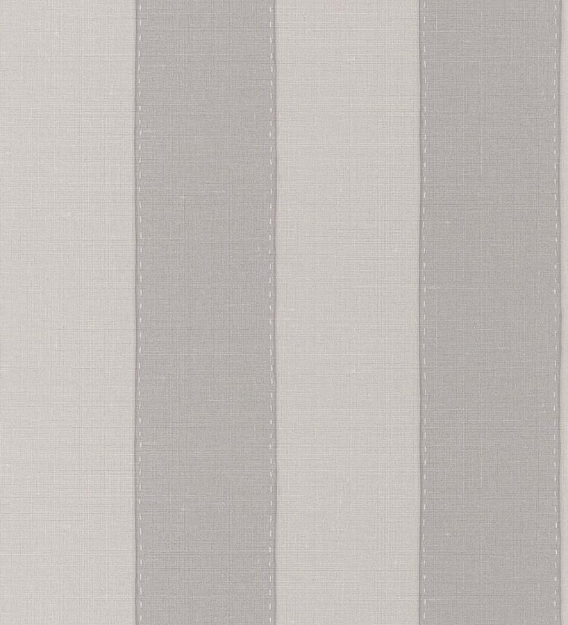 Papel pintado rayas anchas clásicas color gris y gris claro Raya Cupania 5505