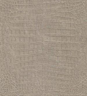 Papel pintado piel de cocodrilo africano marrón grisáceo claro Maseru 6737