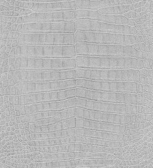 Papel pintado piel de cocodrilo africano gris Maseru 6738