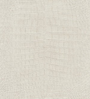 Papel pintado piel de cocodrilo africano beige claro Maseru 6739