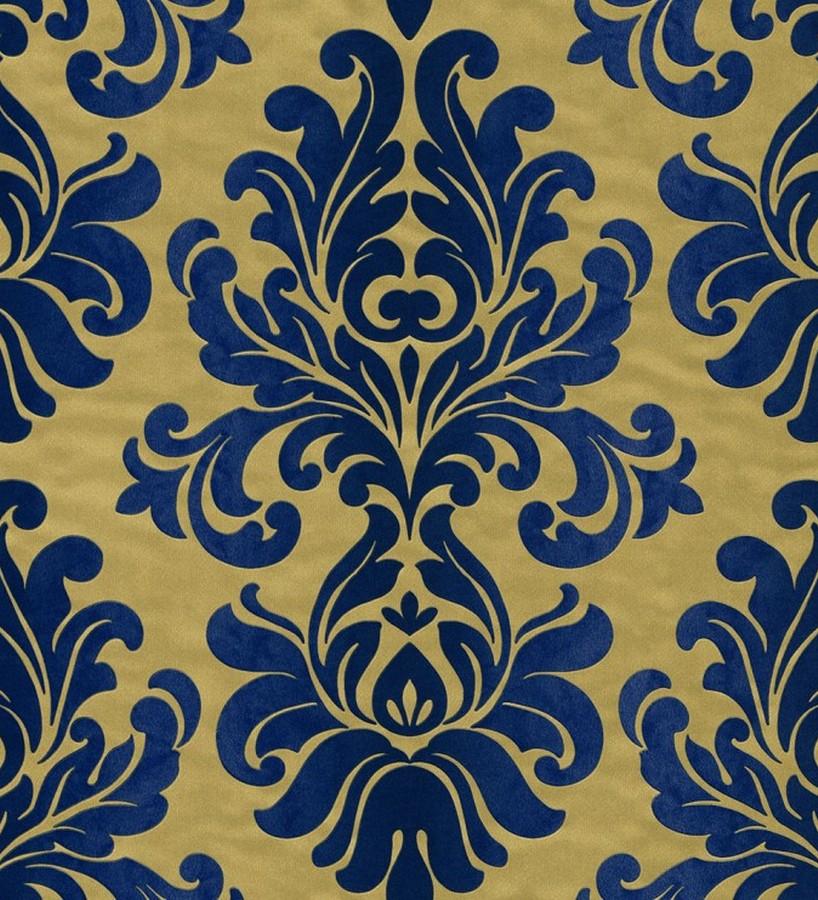 Papel pintado damasco moderno con volutas elegantes Renard 6836