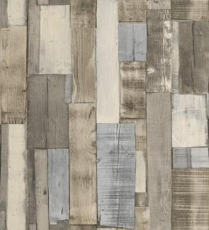 Papel pintado tablas de madera natural beige estilo nórdico Portimao 6889
