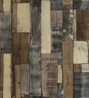 Papel pintado tablas de madera oscura estilo nórdico Portimao 6890