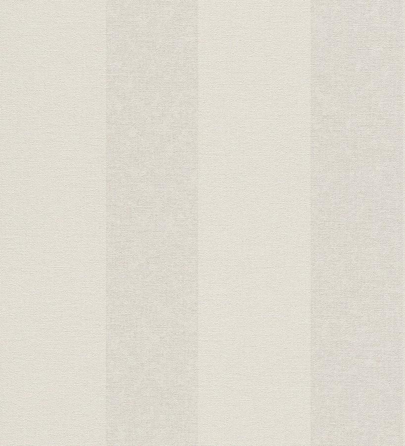 Papel pintado rayas clásicas efecto textil beige claro y blanco roto Raya Van Gogh 6968
