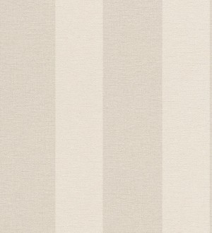 Papel pintado rayas clásicas efecto textil beige pálido y blanco roto Raya Van Gogh 6973
