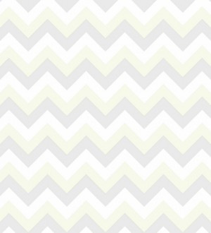 Papel pintado rayas zigzag gris y blanco Ursa 7309