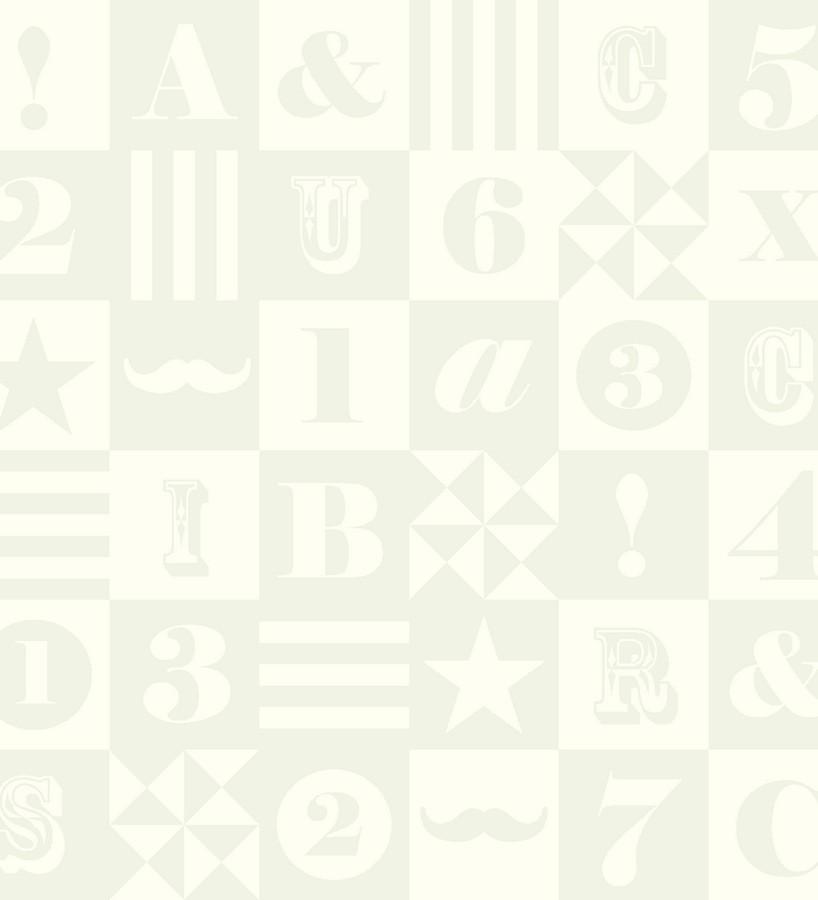 Papel pintado patchwork infantil de letras y números Roman 7320