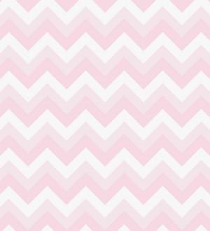 Papel pintado raya zizag rosa y blanco Ursa 7335