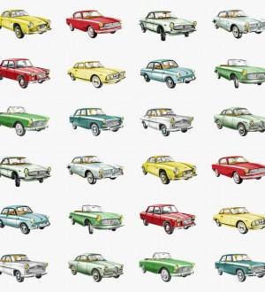 Papel pintado coches vintage para habitaciones infantiles Willys Overland 7357