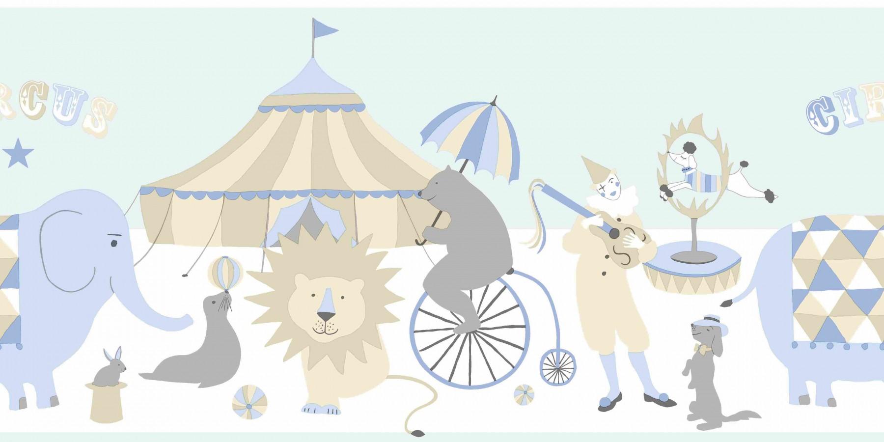 Cenefa para dormitorios infantiles motivos del circo Le Cirque 7363