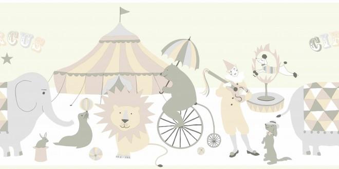 Cenefa para dormitorios infantiles motivos del circo Le Cirque 7365