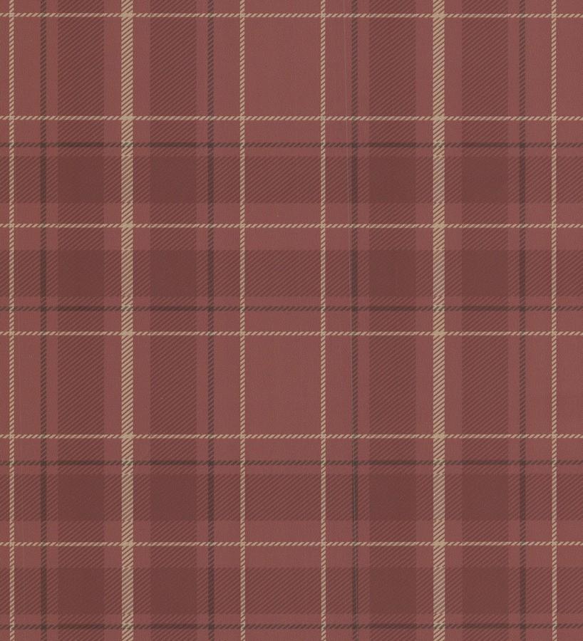 Papel pintado cuadros escoceses vintage fondo marrón caldera Edric 7395