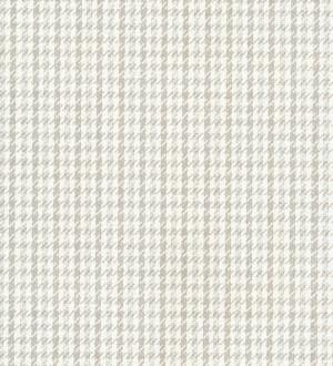 Papel pintado pata de gallo estilo inglés gris claro visón Lester 7420