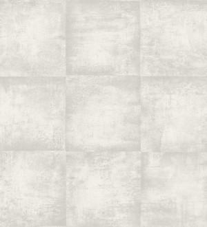 Papel pintado efecto azulejo de hormigón gris claro Éufrates 8346