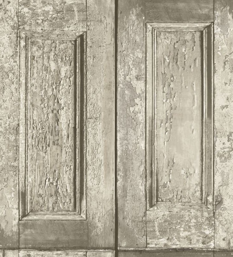 Papel pintado cuarterones beige imitando puertas de madera Ribamar 8350