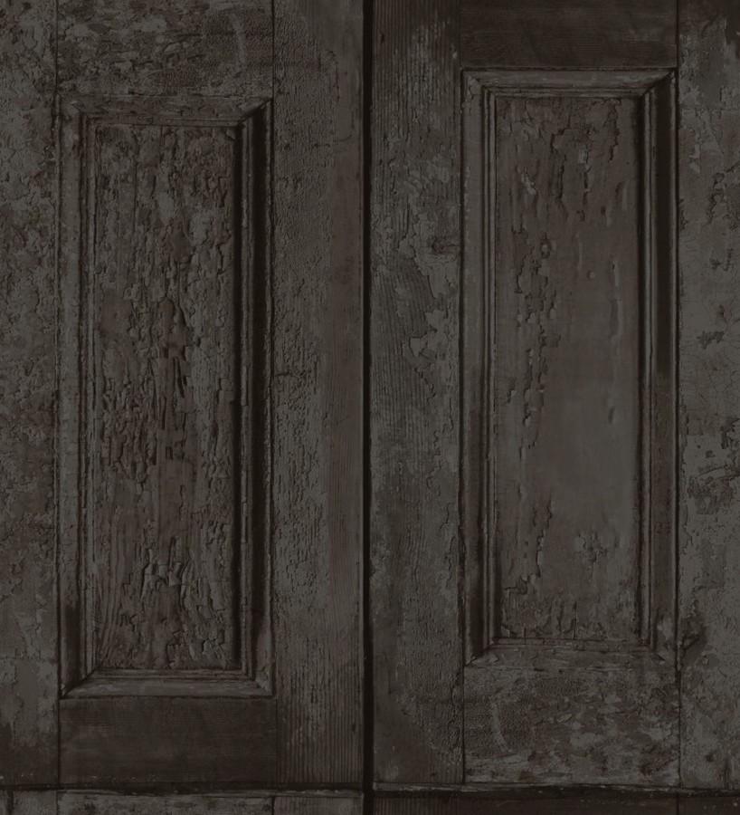 Papel pintado cuarterones negros imitando puertas de madera Ribamar 8354