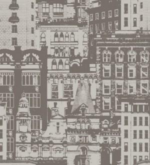Papel pintado edificios de ciudades fondo beige pálido Morley 8367