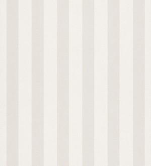 Papel pintado rayas infantiles bicolor gris claro y blanco Raya Alhena 8710