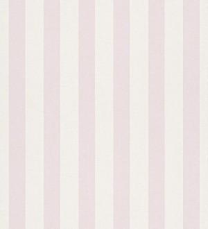 Papel pintado rayas infantiles bicolor rosa claro y blanco Raya Alhena 8711