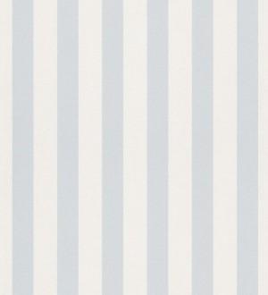 Papel pintado rayas infantiles bicolor celeste grisáceo y blanco Raya Alhena 8712