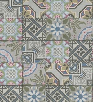 Papel pintado mosaico árabe de azulejos multicolor Misuri 8816