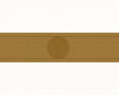 Cenefa estilo romano con cabeza de medusa dorado Flavio 453380