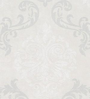 Papel pintado damasco moderno grande gris claro Glamis 454284