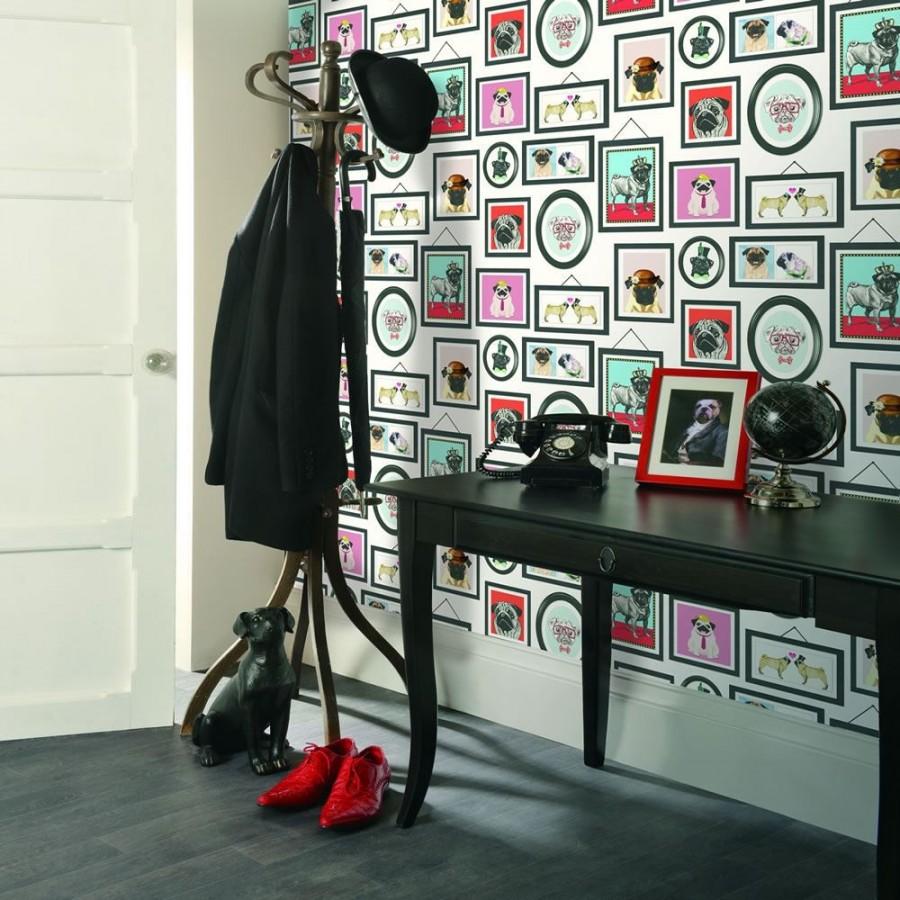 Papel pintado marcos de carlinos vintage inglés Carlinos Portrait 564661