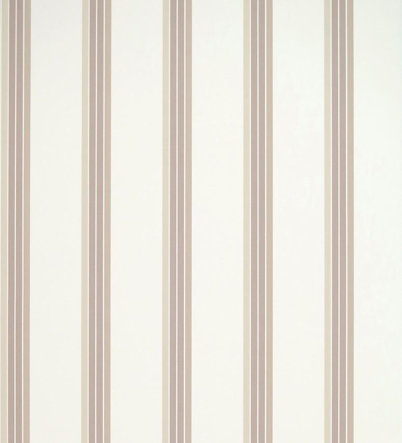 Papel pintado de rayas finas beige fondo blanco Raya Verisa 421517