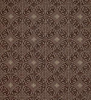 Papel pintado azulejos barrocos árabes marrón oscuro fondo marrón claro Talid 421523