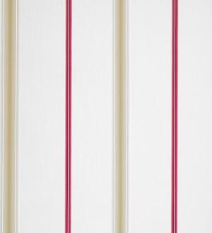 Papel pintado rayas finas artísticas difuminadas rosa intenso fondo blanco Raya Alvin 421541