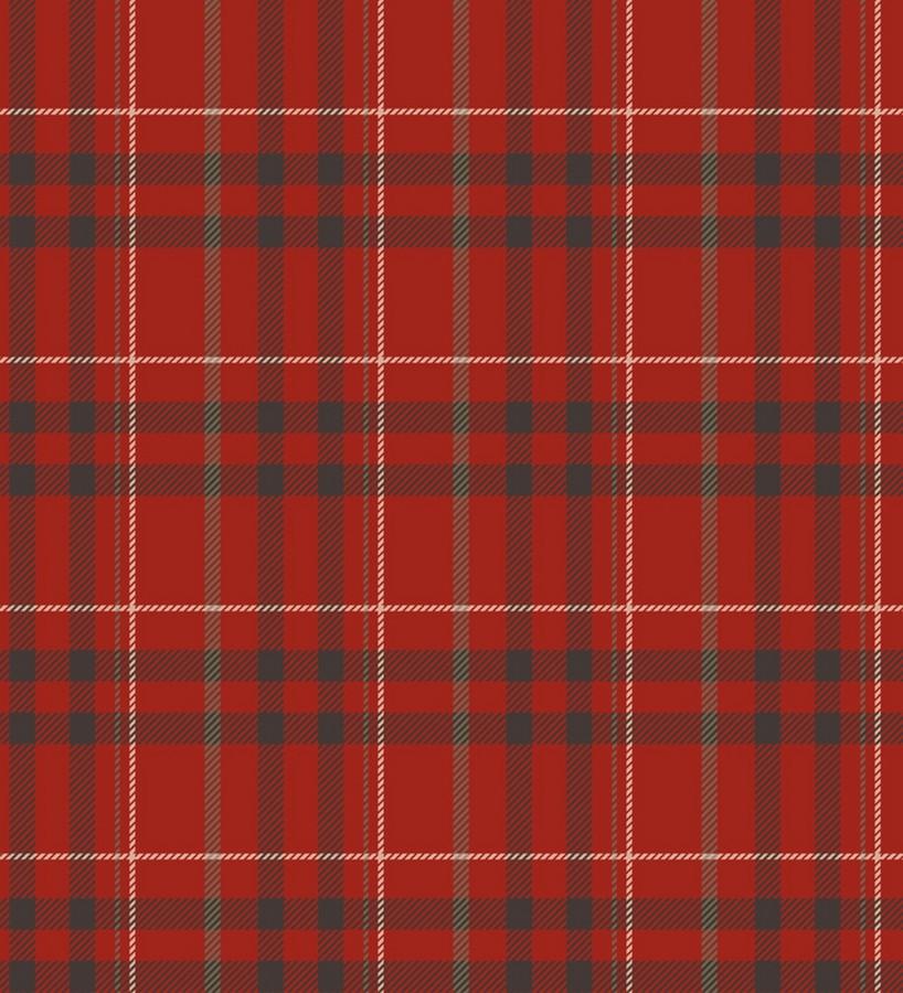 Papel pintado de cuadros escoceses típicos rojo y negro Henderson 421542