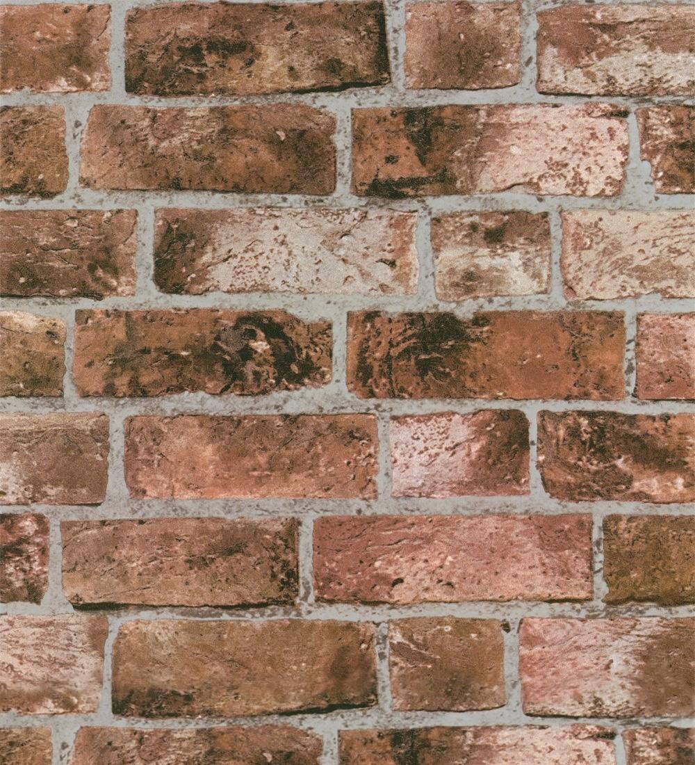 PAPEL PINTADO LADRILLO - Efecto Imitación Muro de Ladrillos