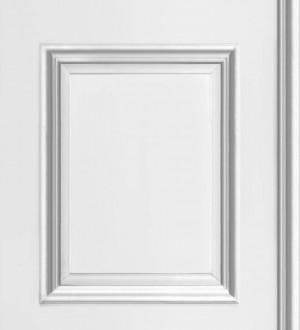 Papel pintado casetones de escayola clásico blanco Venice 421649