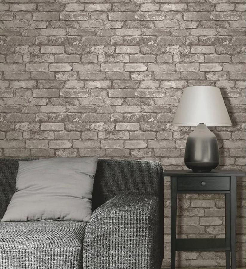 Papel pintado muro de ladrillos r stico overton 421572 - Papel pintado rustico ...