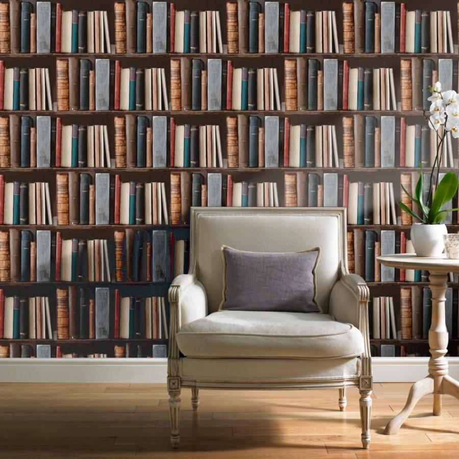 Papel pintado estantería de libros antiguos - Classic Novels 421593