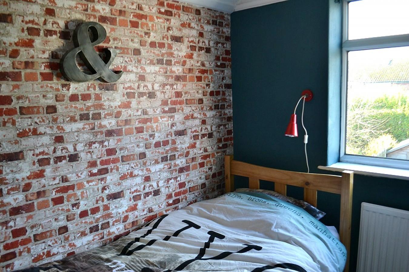 Papel pintado muro de ladrillos estilo industrial rojo caldera Riverton 421601