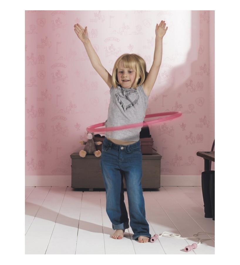 Papel pintado infantil club de caballos ponis rosa claro Pony´s Club 421529