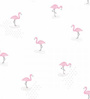 Papel pintado flamencos infantiles dormitorio niña Flamingo Land 120766