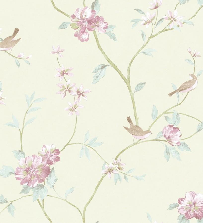 papel pintado p jaros y flores estilo rom ntico villa