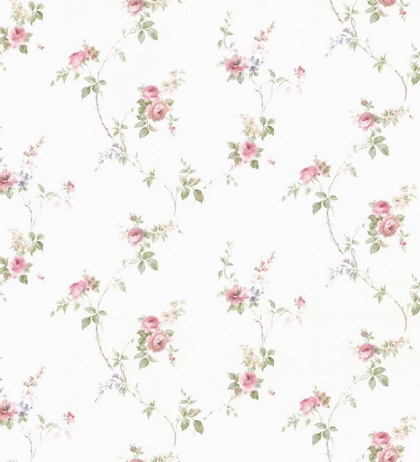 Papel pintado pequeñas flores estilo vintage Emma Flowers 121375