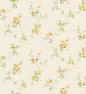 Papel pintado pequeñas flores estilo vintage Emma Flowers 121399